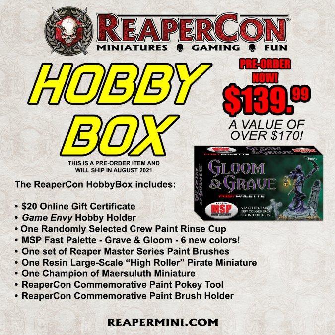 ReaperCon 2021 HobbyBox