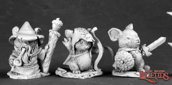 Mouslings (3): Wizard, Archer, Warrior