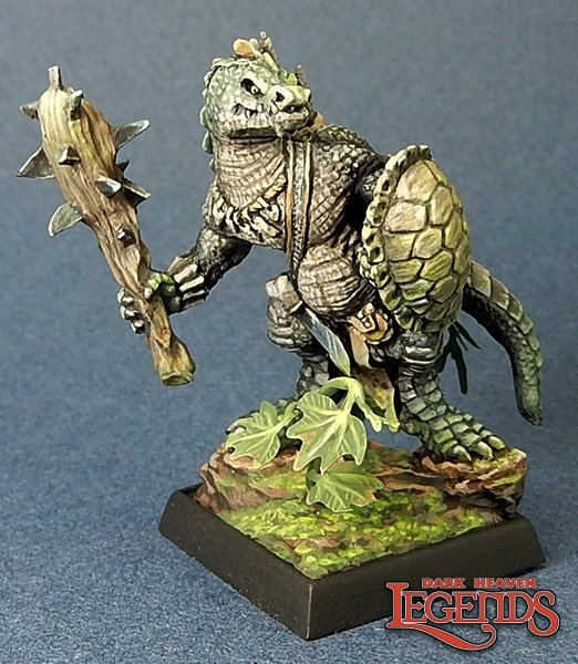 Lizardman w/ Club & Shield