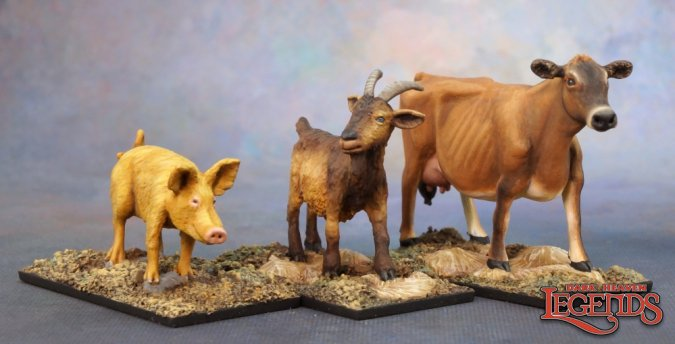 Animal Companions: Goat, Pig, Cow
