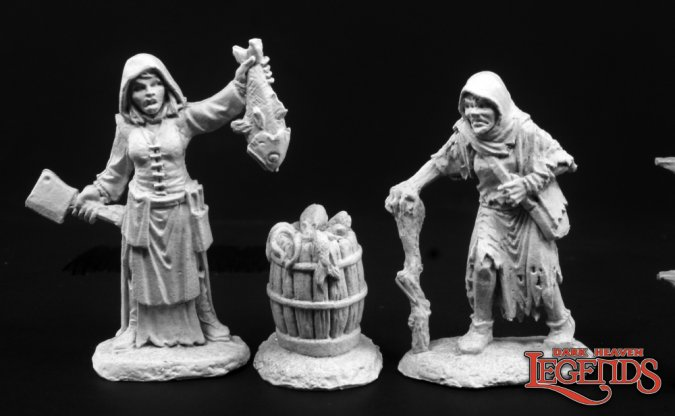 Townfolk of Dreadmere - Fishwife & Crone