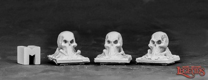 Graveyard Finials: Skull (3)
