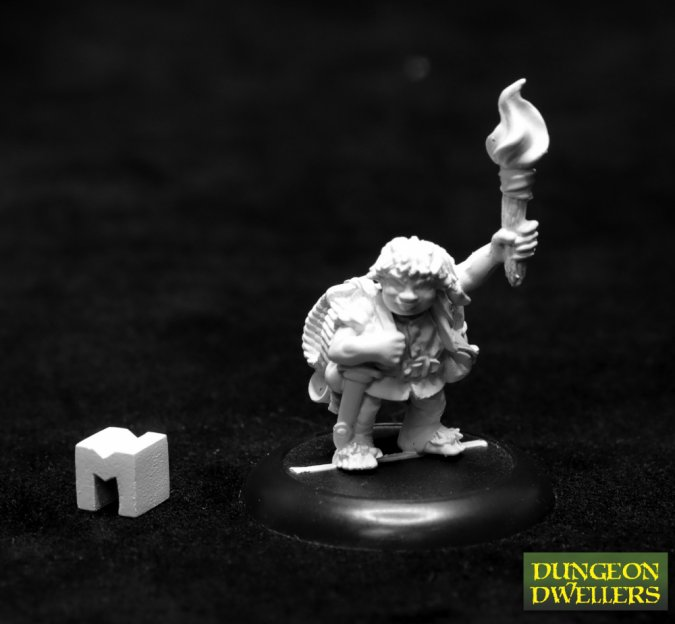 Dungeon Dwellers: Gus Greenweevil, Halfling Henchman
