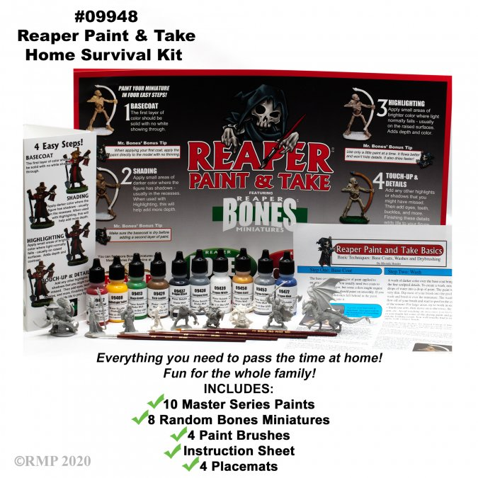 Reaper Paint & Take Home Survival Kit