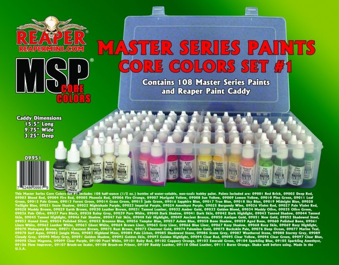Master Series Paints Core Colors Set #1