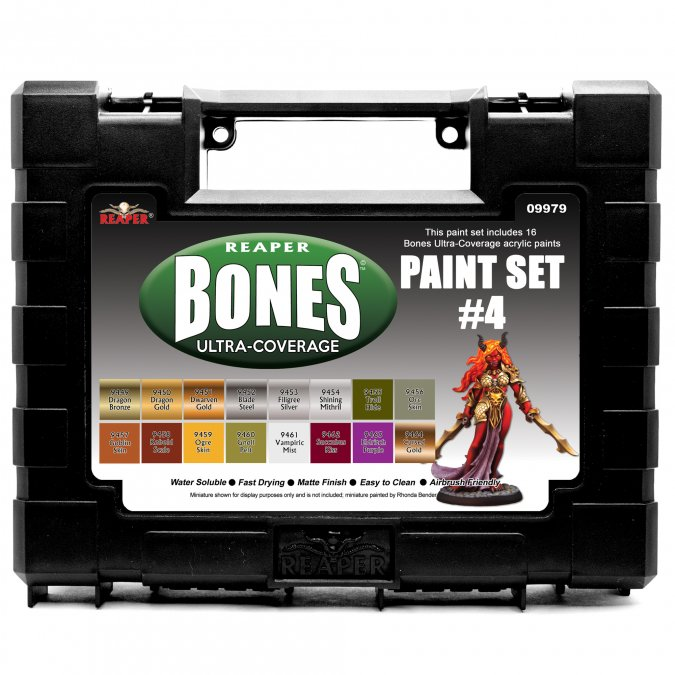 MSP Bones Ultra-Coverage Paints: Set #4