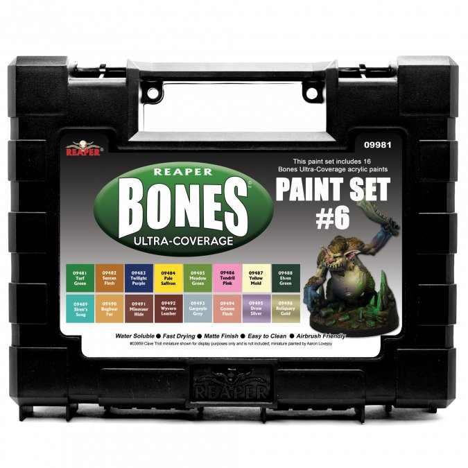 MSP Bones Ultra-Coverage Paints: Set #6