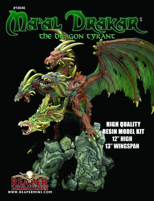 Ma'al Drakar, the Dragon Tyrant Resin Model Kit