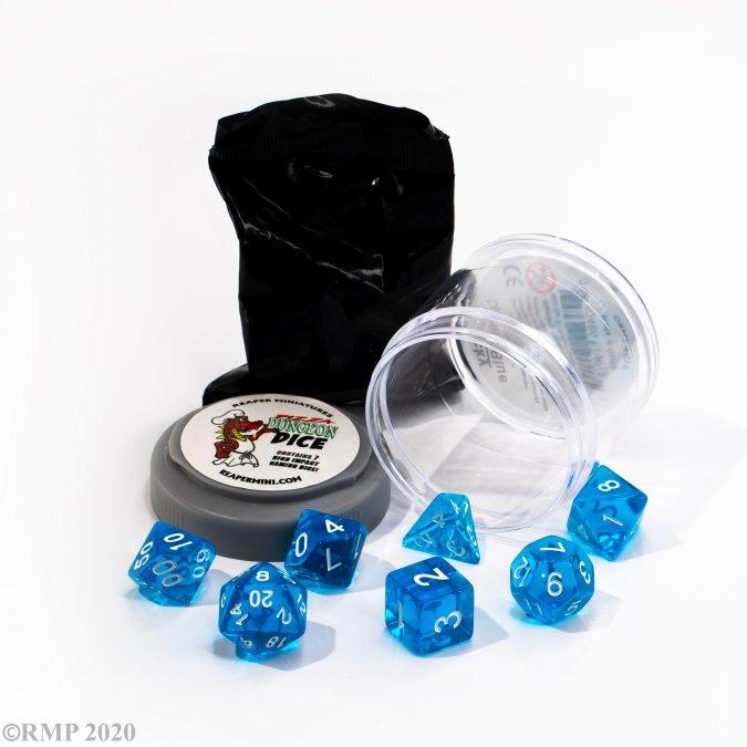 Lucky Dice - Clear Blue