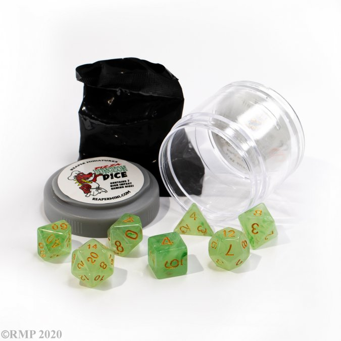 Lucky Dice - Gem Green