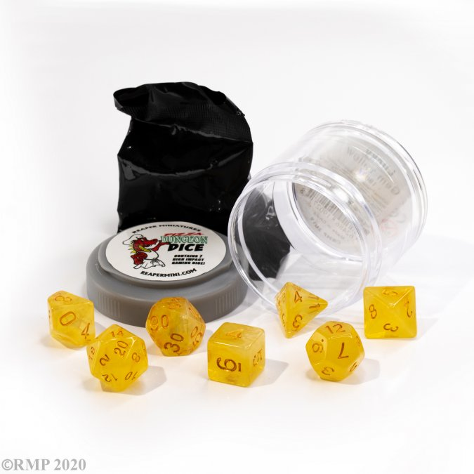 Lucky Dice - Gem Yellow