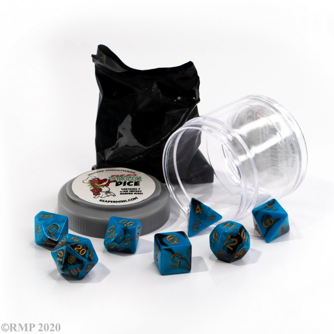 Dual Dice - Blue & Black