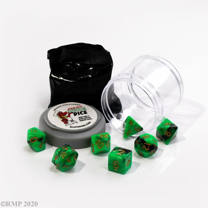 Dual Dice - Green & Black