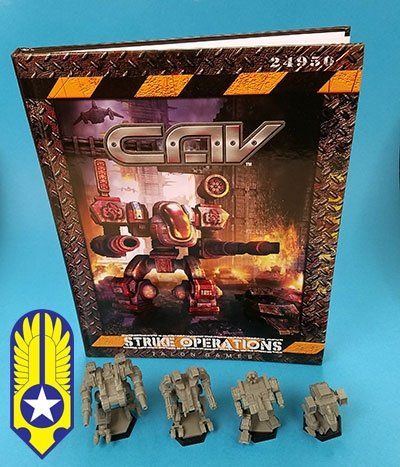 CAV: Strike Operations Hardcover Rulebook, Terran Bundle