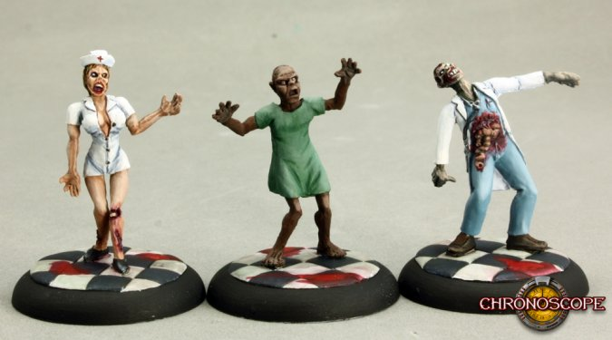 Zombies: Doctor, Nurse, and Patient