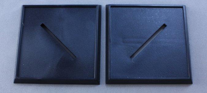 40mm Square Plastic Base (10)