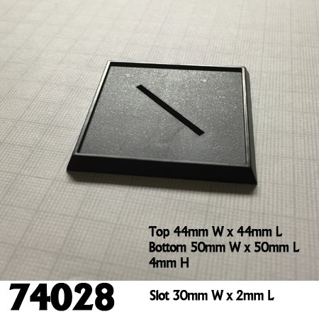 2 Inch Square Plastic Gaming Base (10)