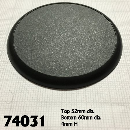 60mm Round Plastic Display Base (10)