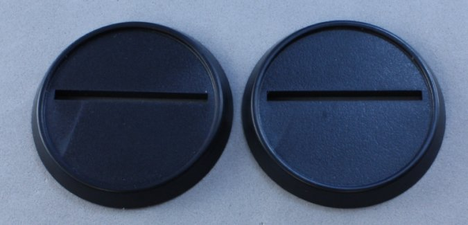 40mm Round Plastic Gaming Base (10)