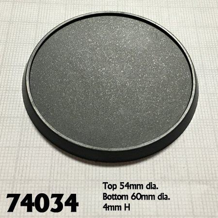 60mm Round Plastic Gaming Base (10)