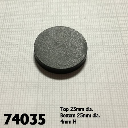 "1"" Round Plastic RPG Base (20)"