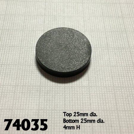 "1"" Round Plastic RPG Base (20)"