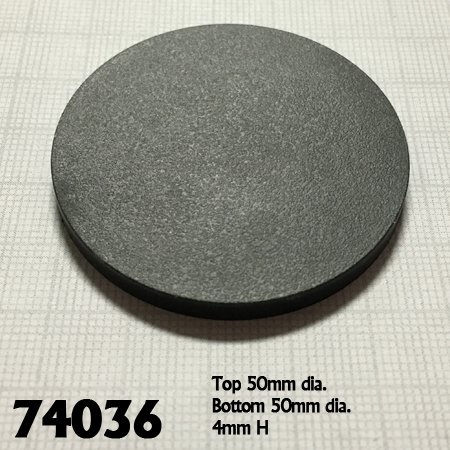 "2"" Round Plastic RPG Base (10)"