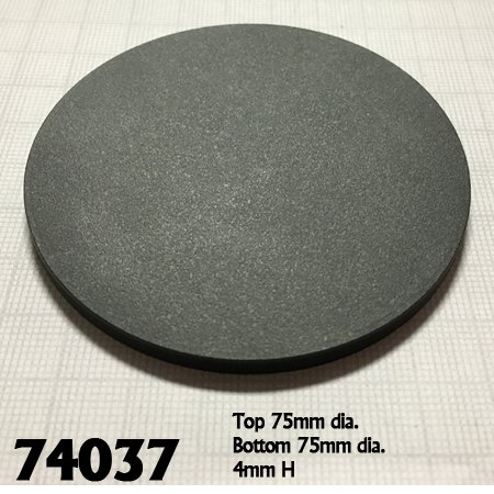 "3"" Round Plastic RPG Base (10)"