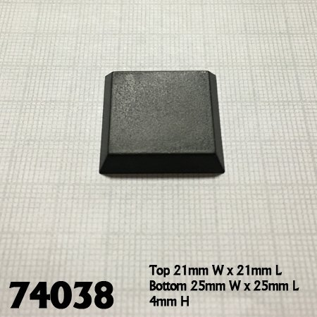"1"" Square Plastic Flat Top Base (20)"