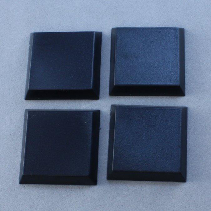 "1"" Square Plastic Flat Top Base (20)"