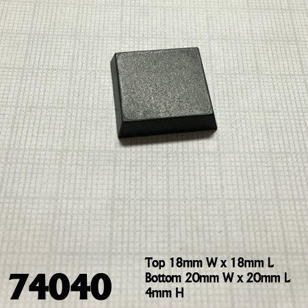 20mm Square Plastic Flat Top Base (25)