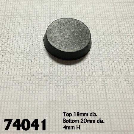 20mm Round Plastic Flat Top Base (25)