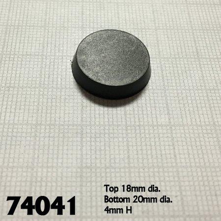 20mm Round Plastic Flat Top Base (25)
