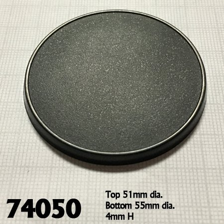 55mm Round Gaming Base (10