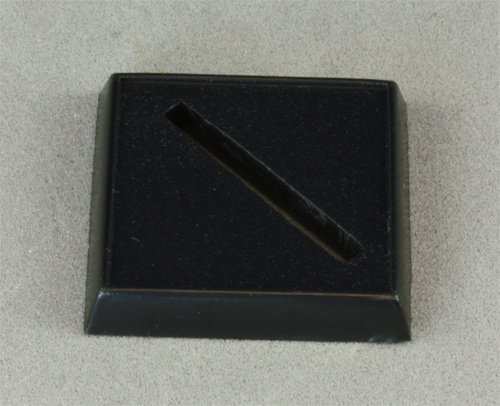 Single 1inch Plastic Square Base