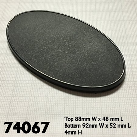 90mm x 52mm Oval Gaming Base (10)
