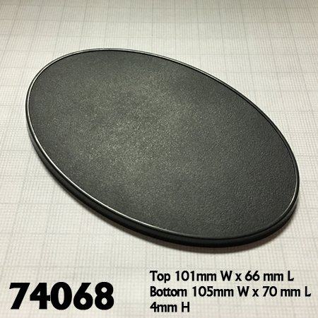 105mm x 70mm Oval Gaming Base (4)