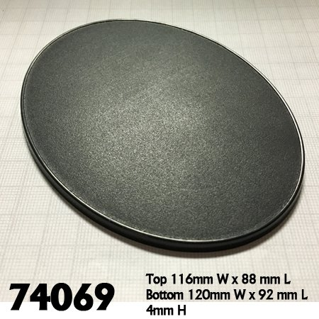 120mm x 92mm Oval Gaming Base (4)