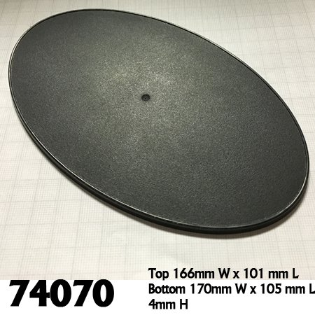 170mm x 105mm Oval Gaming Base (4)