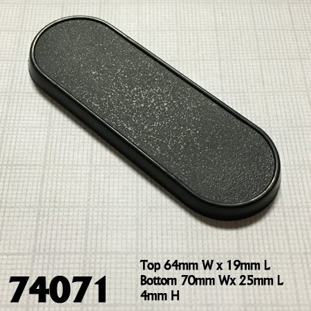 70mm x 25mm Oval Gaming Base (10)