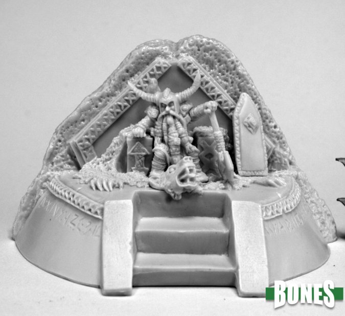 Dwarf King on Throne