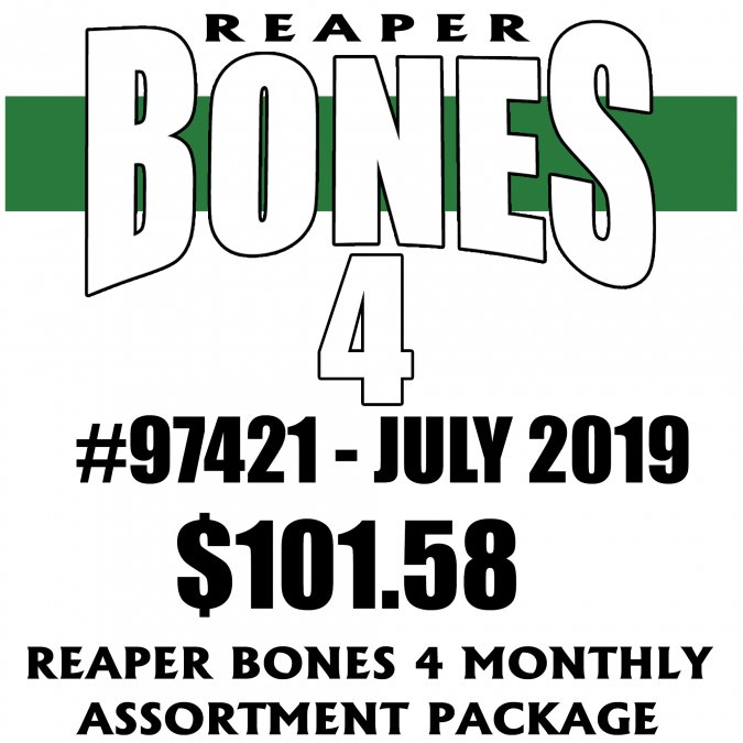 Reaper Bones 4 Monthly Assortment - July 2019