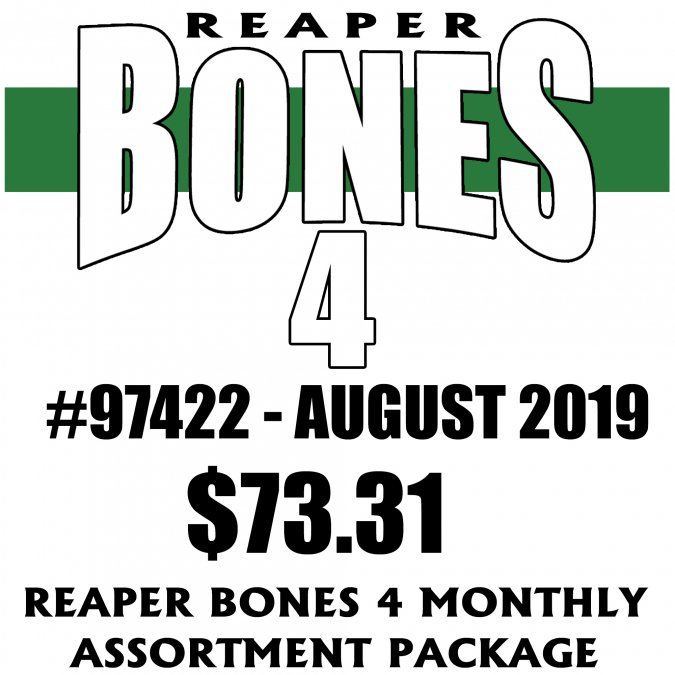Reaper Bones 4 Monthly Assortment - August 2019
