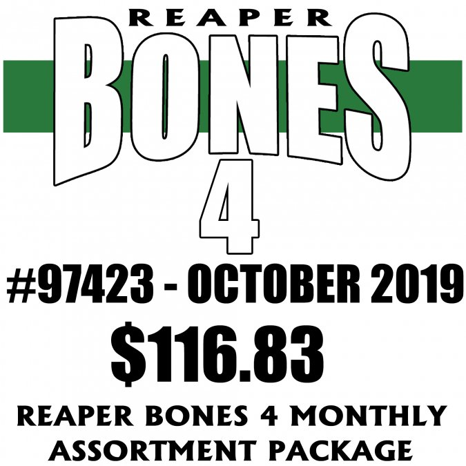 Reaper Bones 4 Monthly Assortment - October 2019