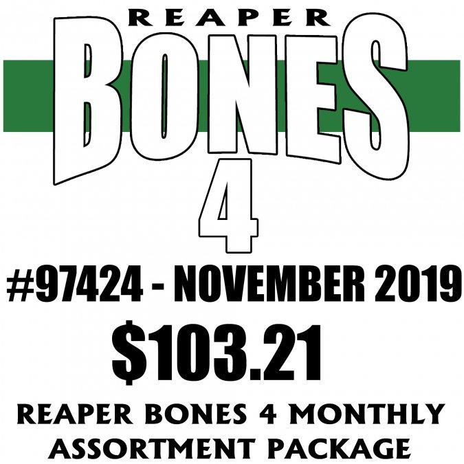 Reaper Bones 4 Monthly Assortment - November 2019