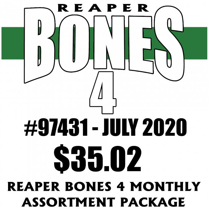 Reaper Bones 4 Monthly Assortment - July 2020