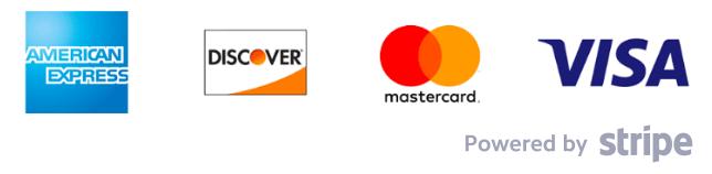 Amex, Mastercard, Visa, Diners